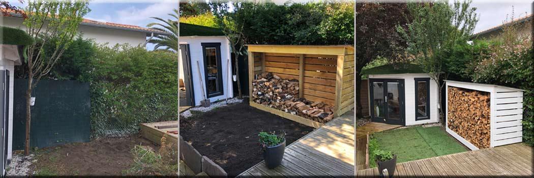 fabrication abris bois jardin - rénovation travaux intérieur extérieur Bayonne Anglet Biarritz
