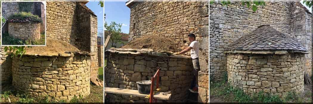 restauration four à pain vieilles pierres - rénovation travaux intérieur Bayonne Anglet Biarritz